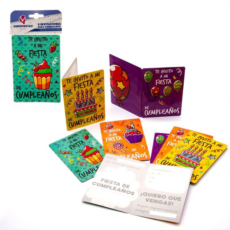 Tarjeta Invitacion Cumple Sugar En Eurofiestas Accesorios