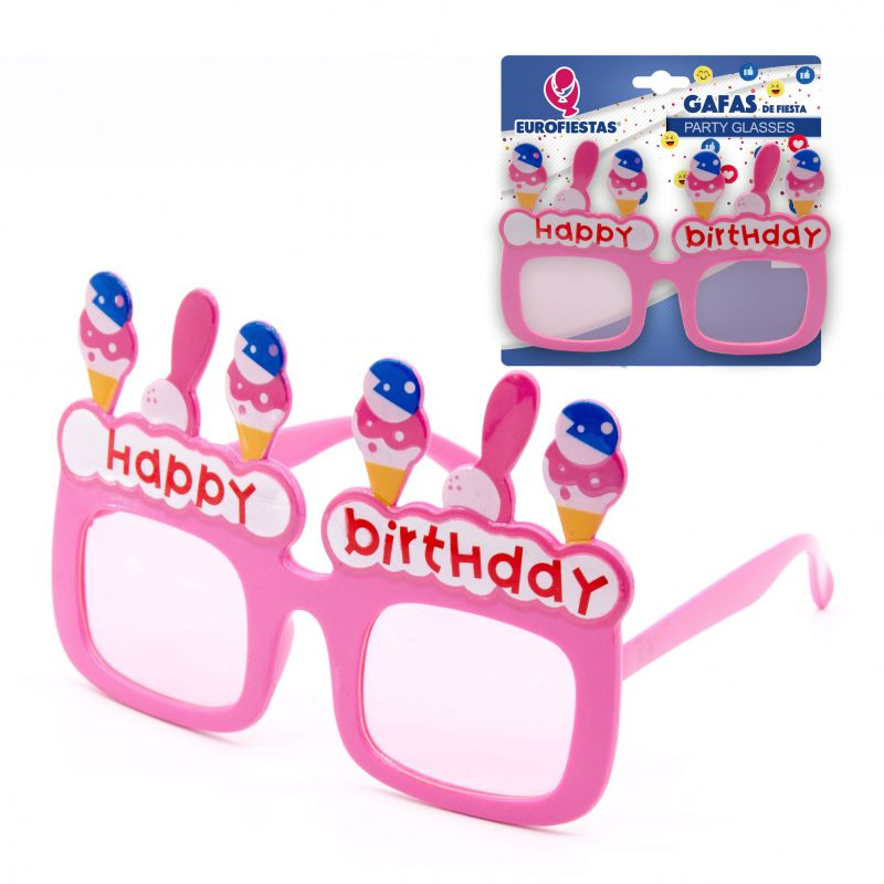 gafas de fiesta rosas happy birthday