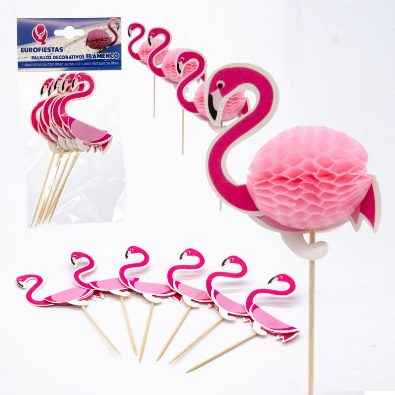 PALILLOS DECO FLAMINGO