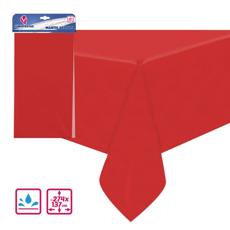 MANTEL REUSABLE 137*274CM ROJO