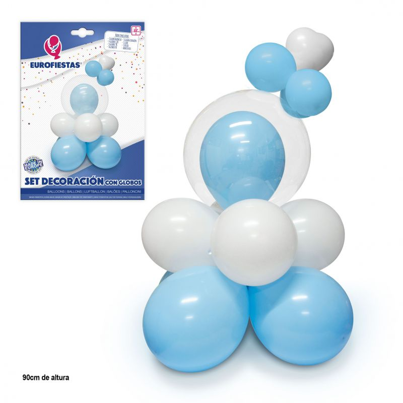 set decoracion azul con globos