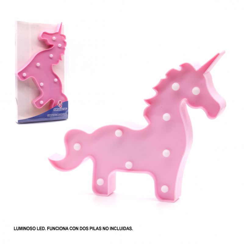 FIGURA LED UNICORNIO ROSA