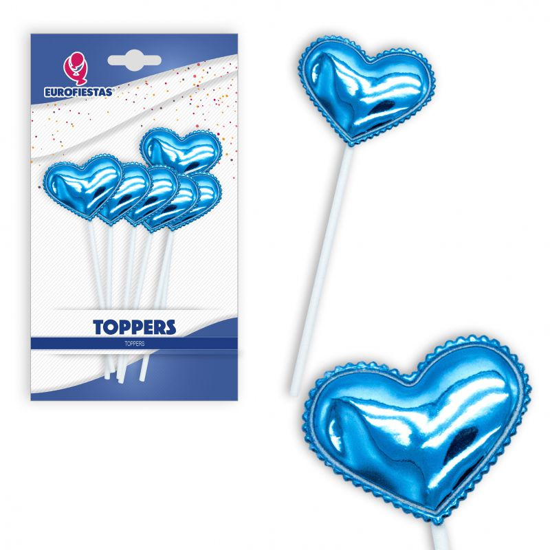 TOPPER CORAZON AZUL