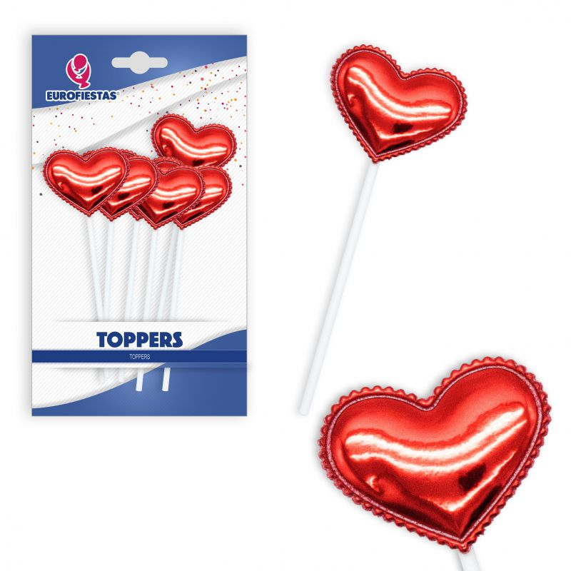 TOPPER CORAZON ROJO