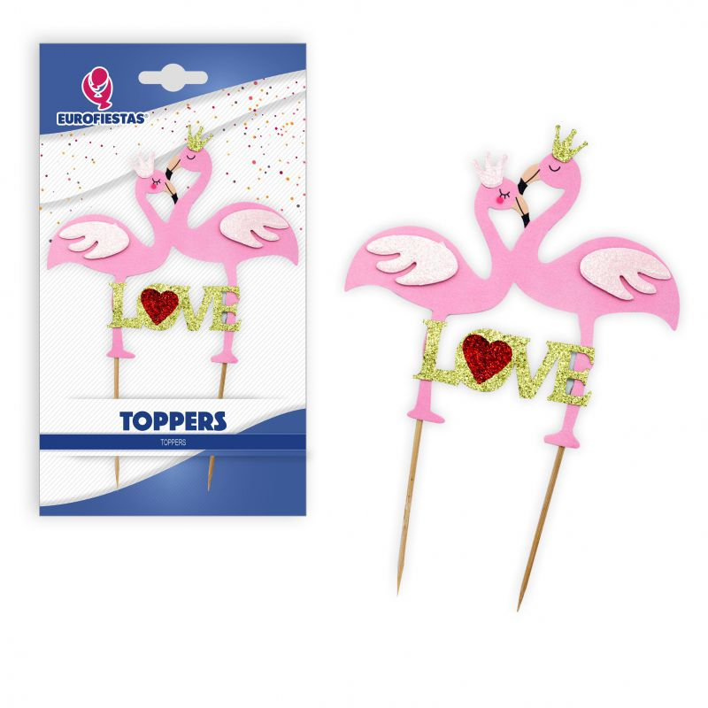 TOPPER FLAMINGOS LOVE