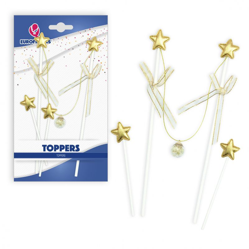 TOPPER HAPPY BIRTHDAY PALITOS ESTRELLAS ORO