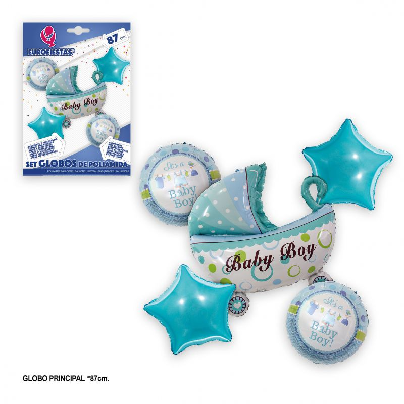 SET GLOBOS FOIL BABY BOY