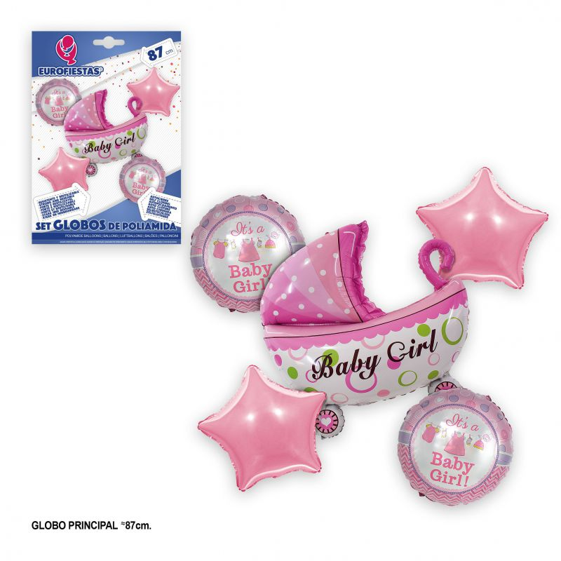 SET GLOBOS FOIL BABY GIRL