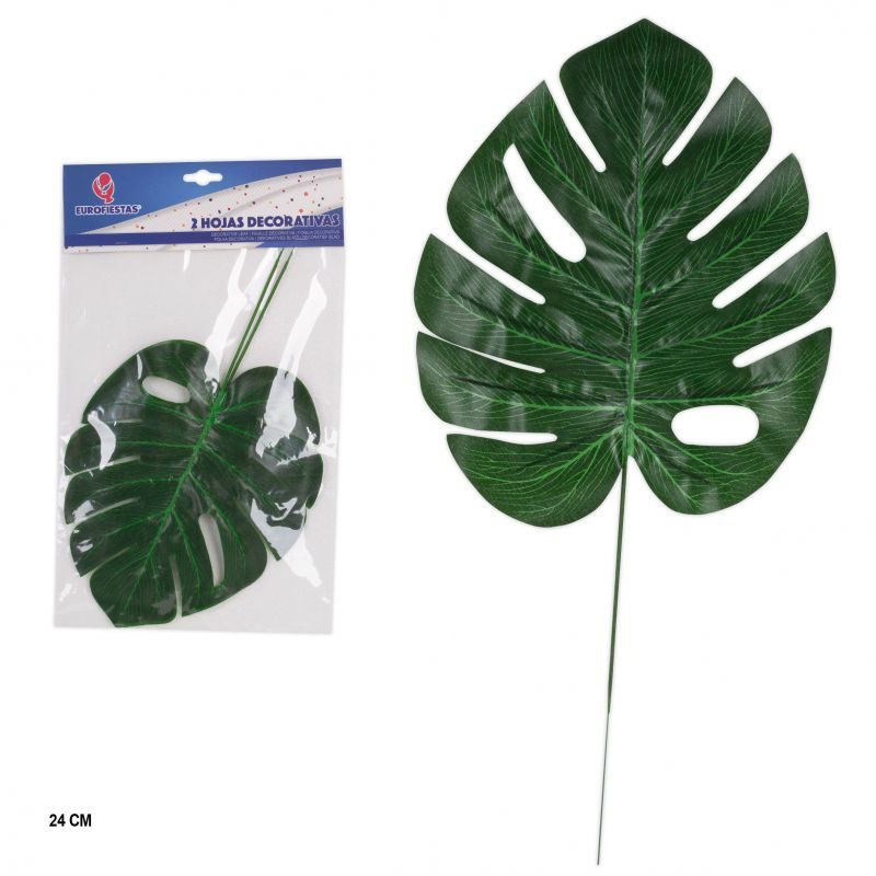 HOJA DECORATIVA TROPICAL 23 cm